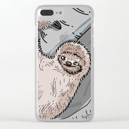 Slothin' it Clear iPhone Case