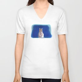 Moco Moco Mocha, the cat Unisex V-Neck
