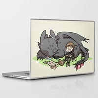 hiccup Laptop & iPad Skins featuring Sleepy Buddies by comickergirl