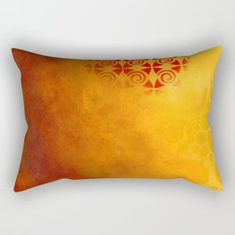 Pattern in a sandstorm Rectangular Pillow
