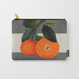 botanical stripes 6 -gray Carry-All Pouch