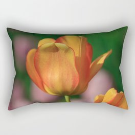 Orange Yellow Tulip Rectangular Pillow