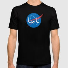 Nasa | Arabic Black Mens Fitted Tee X-LARGE