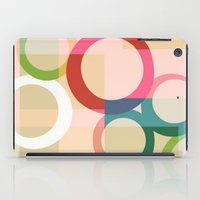 circles iPad Cases featuring circles by clemm
