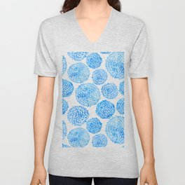 Durian Shape Watercolor Pattern Unisex V-Neck