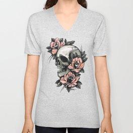 Skull and roses - tattoo Unisex V-Neck