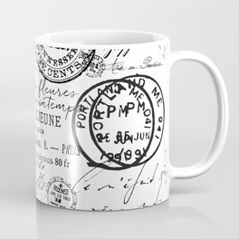 Vintage handwriting black and white Coffee Mug