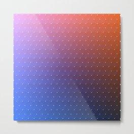 Ombre Rainbow Wavy Darts Purple Blue Pink Red Metal Print
