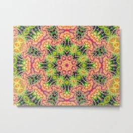 BBQSHOES: Kaleioscopic Fractal Mandala 1543K2 Metal Print