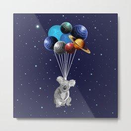 Koala Space Celebration Metal Print