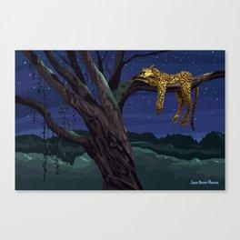 Leopard - Night Canvas Print