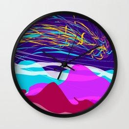 Northern Lights Leviathan Abstract Design Wall Clock