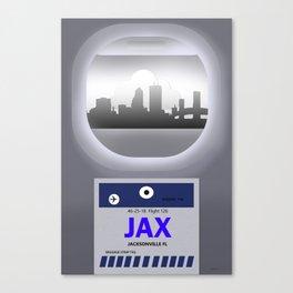 Jacksonville - JAX - Airport Code and Skyline Canvas Print