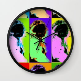 Poster with ape in pop art style Wall Clock