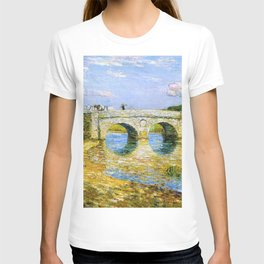 Classical Masterpiece 'Bridge Over the Stour'' by Frederick Childe Hassam T-shirt