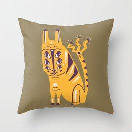 Electric Cat Throw Pillow