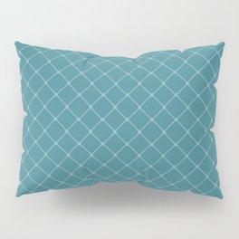 Ocean Blue Classic Diagonal Grid Pillow Sham