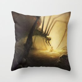 Spidermother Throw Pillow