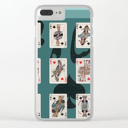 Persian Playing Cards Clear iPhone Case