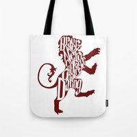 gryffindor Tote Bags featuring Gryffindor Pride by Gabriela Michelle