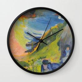 "Paul Gauguin ""Au-dessus de la mer (Above the sea)"" Wall Clock"