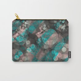 Bubblicious - Teal Pink & Taupe Palette Carry-All Pouch