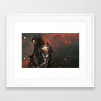 blood Framed Art Prints featuring Blood in the Breeze by Alice X. Zhang