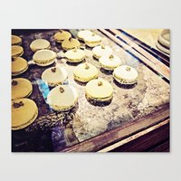 macaron Canvas Prints featuring macaron by inourgardentoo