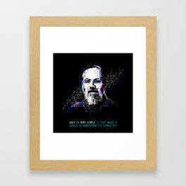 Dennis Ritchie - Tech Heroes series Framed Art Print