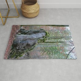 Rock in the forest #1 #wall #decor #art #society6 Rug