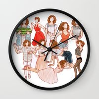 dirty dancing Wall Clocks featuring Dirty Dancing - New version by Naineuh