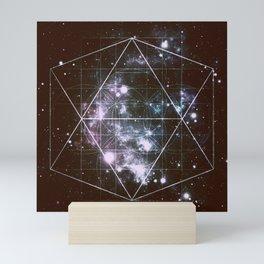 Galaxy Sacred Geometry dark Mini Art Print