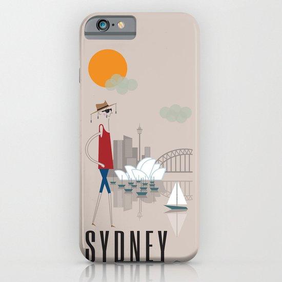 Sydney - In the City - Retro Travel Poster Design iPhone & iPod Case
