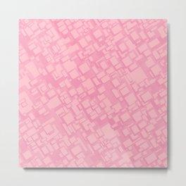 Vintage pink rectangle pattern Metal Print