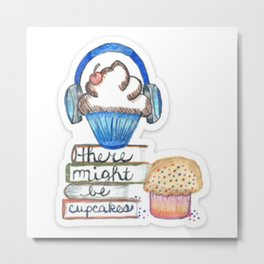 Cupcake Logo with Shadow Metal Print