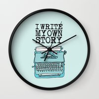 write Wall Clocks featuring I Write  by Kendra Amy Allen