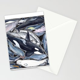 Dolphin, orca, beluga, narwhal & cie Stationery Cards