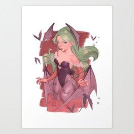 Morrigan Darkstalkers Art Print