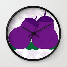 Eggplants  Wall Clock