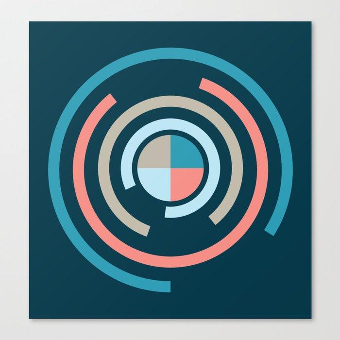 Colorful Circles V Canvas Print