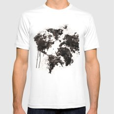 Wild World LARGE White Mens Fitted Tee