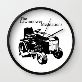 The Lawnmower Meditations Wall Clock