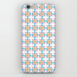 Circle and abstraction 9- blue abstract,geometric,geometrical,circle,sphere iPhone Skin