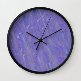 Lavender Brush Strokes Wall Clock
