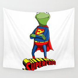 Kermit the Superman Wall Tapestry
