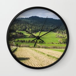 Rural Landscape Poland Wall Clock