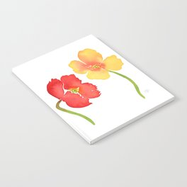 Red and Yellow Poppies Notebook