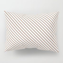 Warm Taupe Stripe Pillow Sham