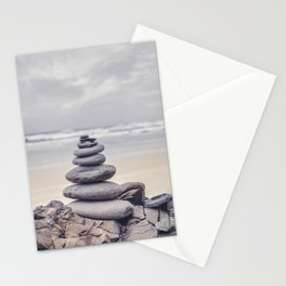 Stone Tower At A Wild Portuguese Beach Stationery Cards