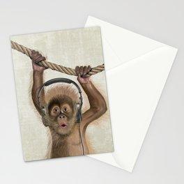 Baby monkey Stationery Cards